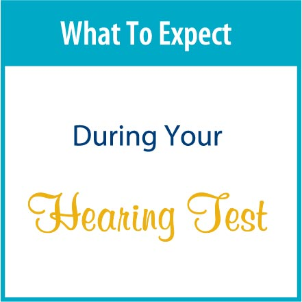 during a hearing test
